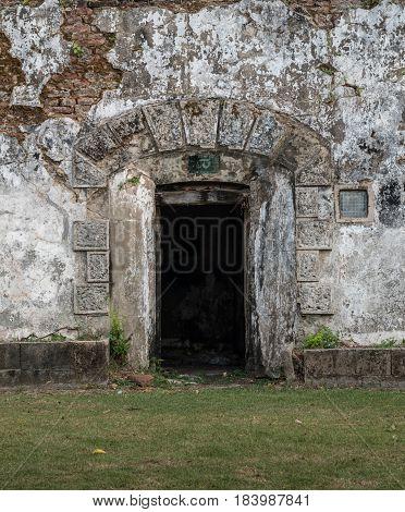 Doors storage rooms and refuge rooms. The door is damaged