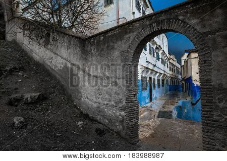 The arch in the colorful world of black and white reality