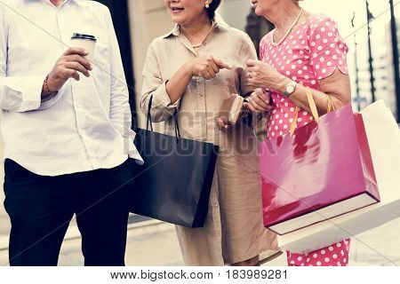 Senior Adult Shopping Friendship Lifestyle