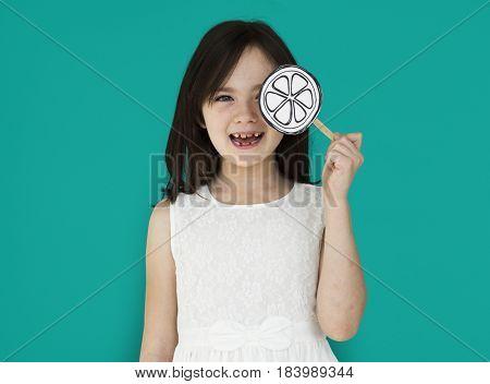 Little Girl Smiling Lolipop Shoot