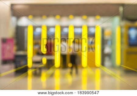Abstract Blur Background Of Atms Machine For Withdraw Or Deposit Cash Money.