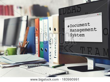 Document Management System Window Popup