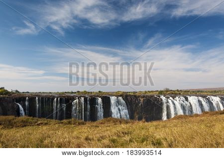 View of the Victoria Falls in Zimbabwe Africa