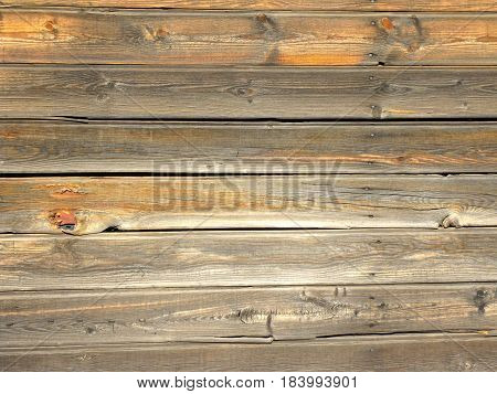 weathered wooden siding on an antique building