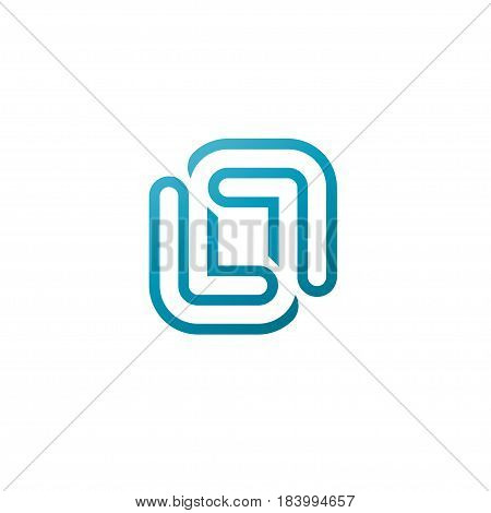 Abstract logo business ,Corporate identity design element. Industry, finance, bank logotype idea. Square group, network integrate, technology interaction concept.