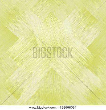 Diagonal seamless pattern with grunge striped intersected square elements in green and white pastel colors
