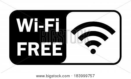 Wifi wireless internet signal flat icon signal .