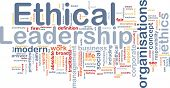 Background concept wordcloud illustration of ethical leadership poster