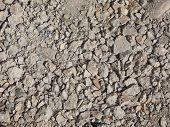 concrete debris rubble from building demolition useful as background poster