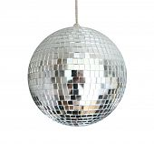 discoball hanging on chainlet isolated poster