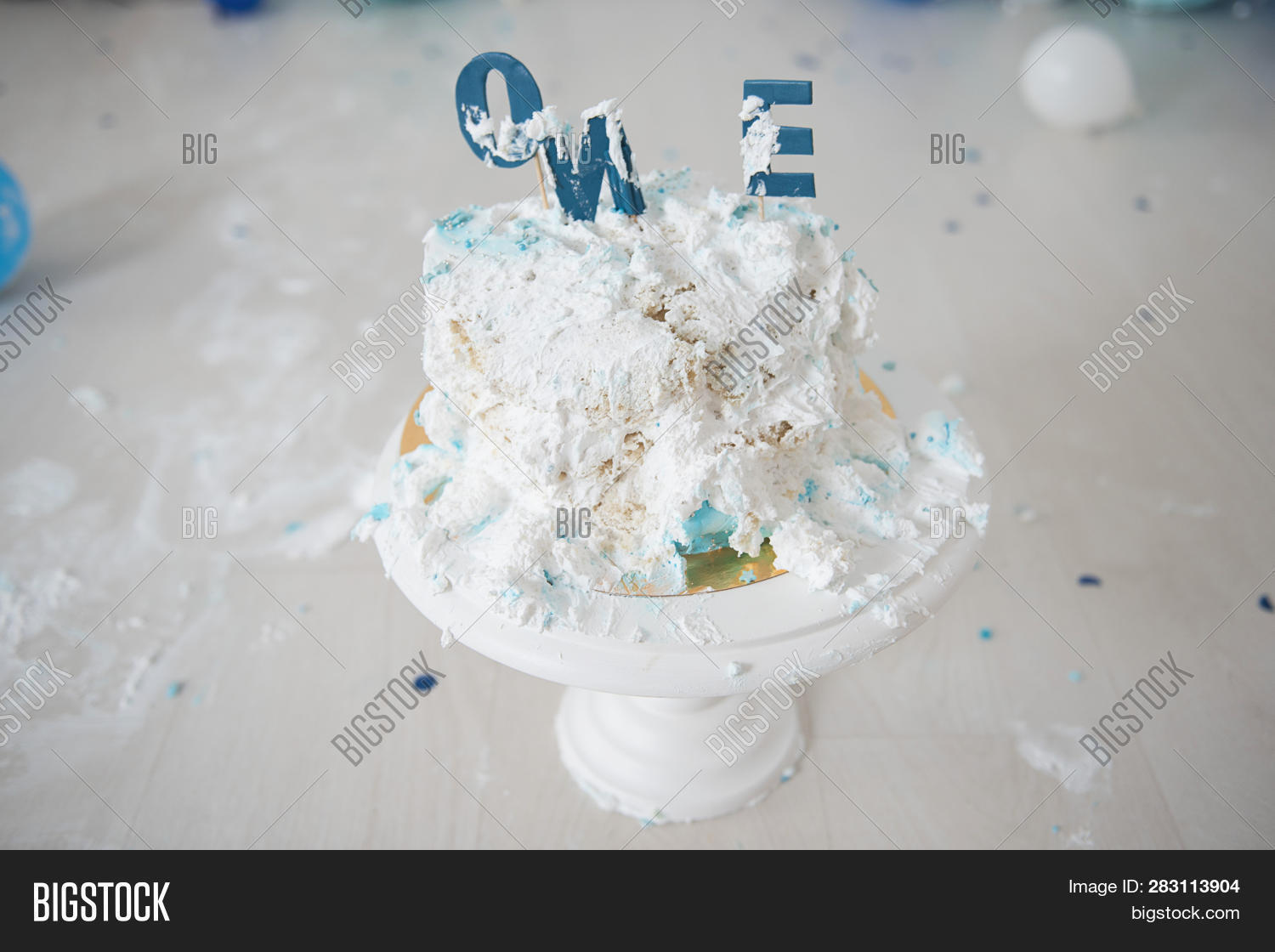 Cool Smashed First Birthday Image Photo Free Trial Bigstock Funny Birthday Cards Online Overcheapnameinfo