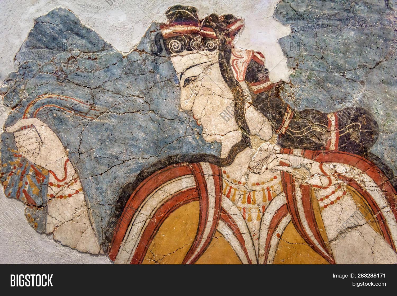Ancient Greek Fresco Image Photo Free Trial Bigstock