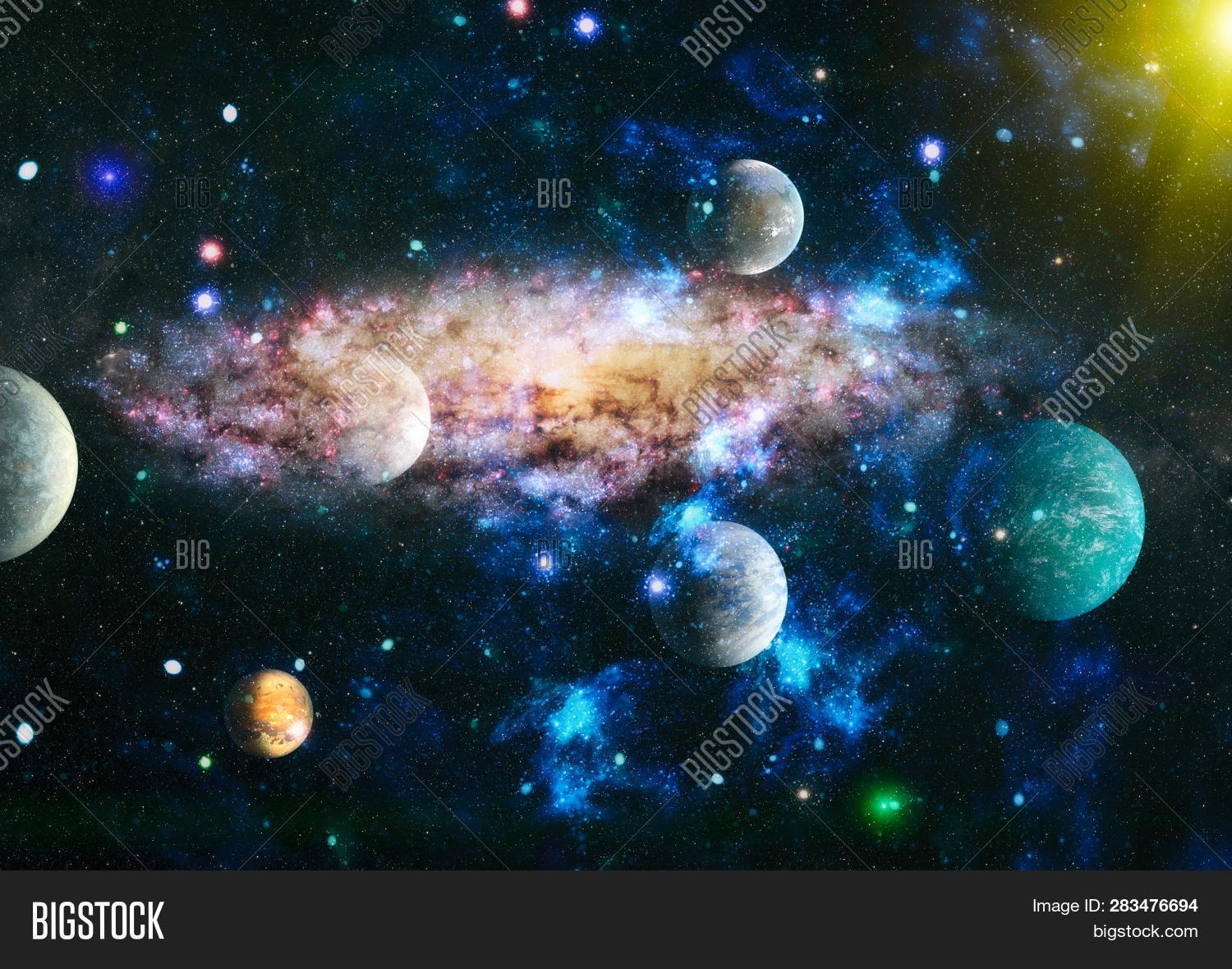 Chaotic Space Image Photo Free Trial Bigstock