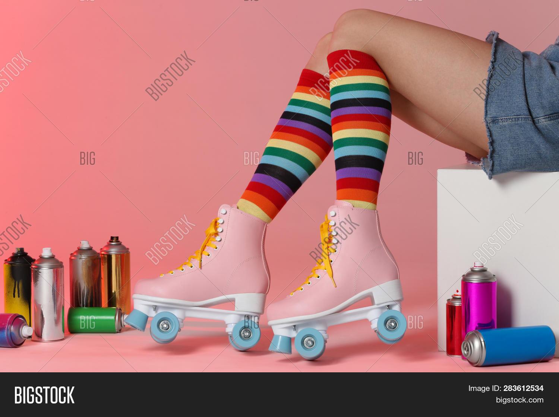 Woman Vintage Roller Image & Photo (Free Trial)   Bigstock