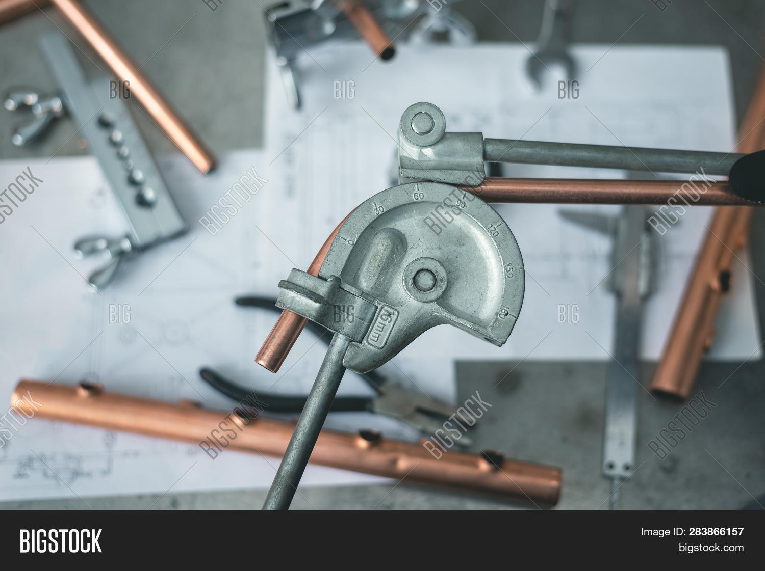Pipe Bender Tool Hands Image & Photo (Free Trial) | Bigstock