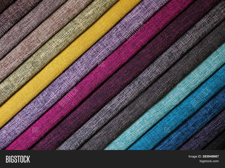 Colorful Bright Fabric Image Photo