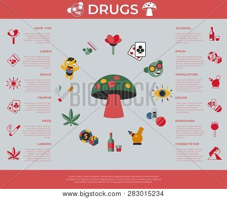 Digital Vector Freaks And Drugs Simple Icons