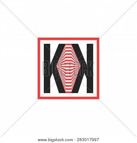 Geometric Abstract Double K Logo. Flat Minimal Style Trend Modern Kk Logotype Graphic Design Isolate