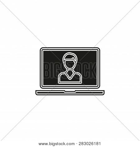 Online Training Icon. Simple Element Illustration. Online Training Symbol Design From Elearning Coll