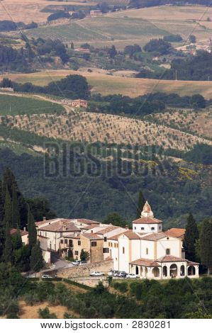 Beautiful View Of Tuscany From Hill