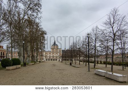 Madrid, Spain, February 2017: Royal Palace Of Aranjuez, A Residence Of The King Of Spain, Aranjuez,