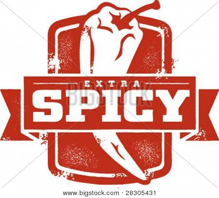 Extra Spicy Chili Pepper Stamp
