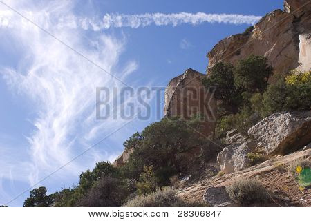 Whispy Clouds above the Desert