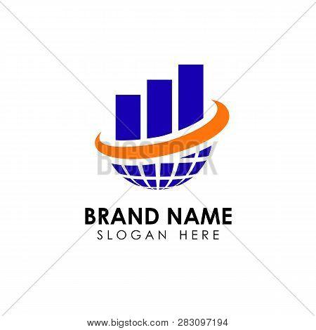 World Trading Logo Design Template. World Business Logo Designs