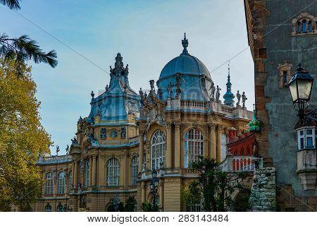 Hungary Budapest 2017: Vajdahunyad Castle In Budapest Autumn
