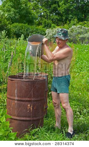 Man With Bucket