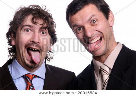 crazy stressed businessteam
