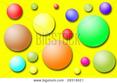 multicolor illustration (nice for present paper, birthday postards, etc)