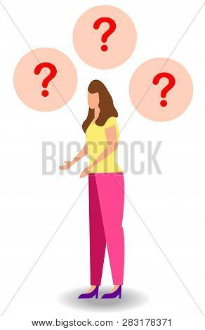 Concept Illustration Of People Frequently Asked Questions, Waiting To Be Answered, Answer To The Met