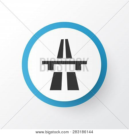 Start Of Motorway Icon Symbol. Premium Quality Isolated Freeway Element In Trendy Style.
