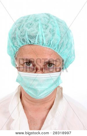 An attractive, mature doctor, medical profession photo