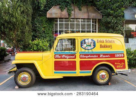 Bishop, California - June 4, 2018: Exterior View Of Erick Shats Bakery, Famous For Their Original Sh