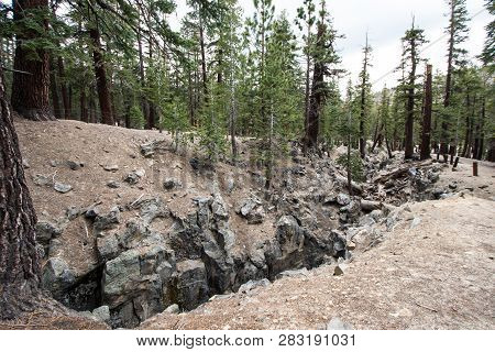 The Inyo Earthquake Fault In Mammoth Lakes California