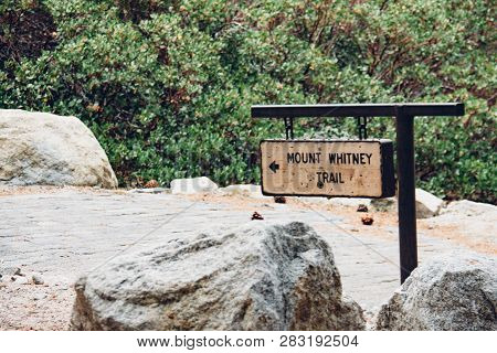 Mt. Whitney Trailhead In The Sierra Nevada Mountains, The Highest Point In The Contiguous United Sta