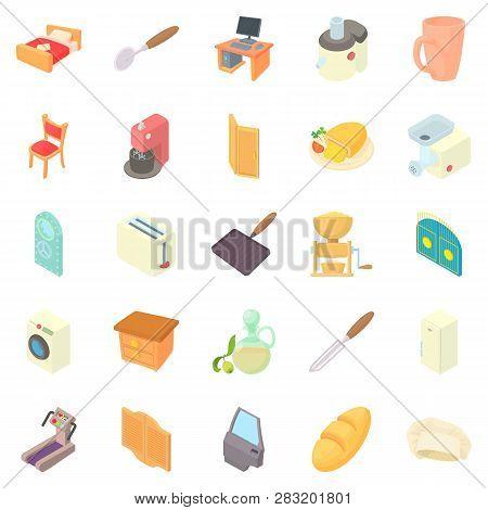 Grange Icons Set. Cartoon Set Of 25 Grange Icons For Web Isolated On White Background