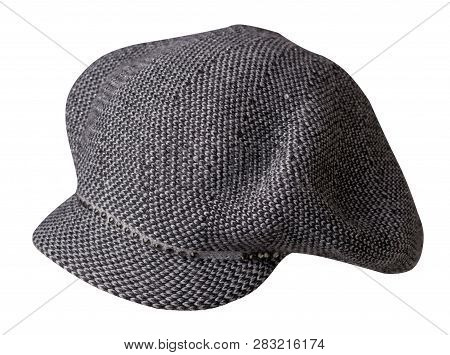 Fashion Hat  With  Visor Isolated On White Background. Colored Hat .