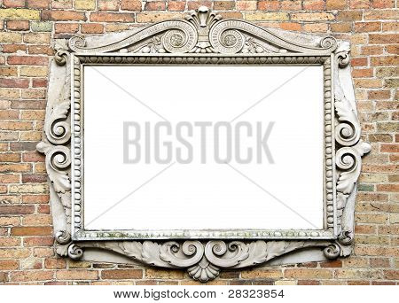 Old Wall With Vintage Frame For Text