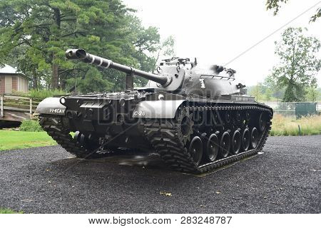 M48 Patton Tank On Display At The First Division Museum, Cantigny Park, Wheaton, Il September 1, 201