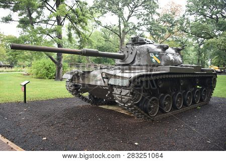 M60 Patton Tank On Display At The First Division Museum, Cantigny Park, Wheaton, Il September 1, 201
