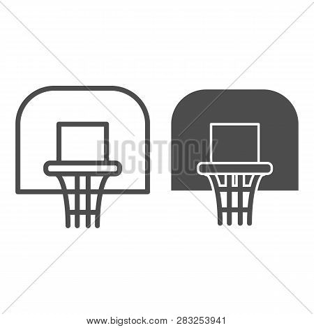 Basketball Hoop Line And Glyph Icon. Basketball Ring Vector Illustration Isolated On White. Basketba