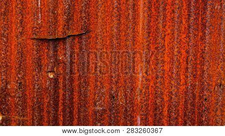 Pattern Of Old Metal Sheet. Metal Sheet Texture. Rusty Metal Sheet Texture.