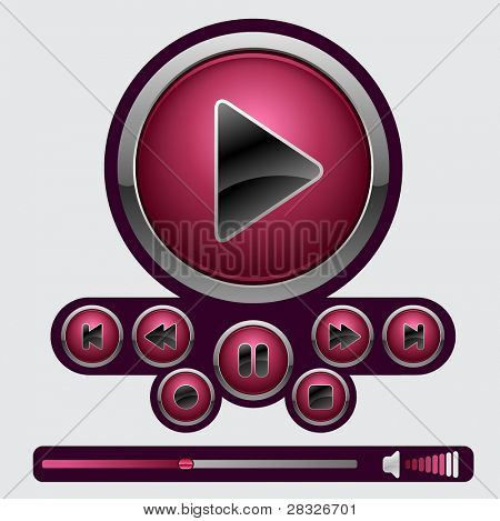 poster of Set of media buttons
