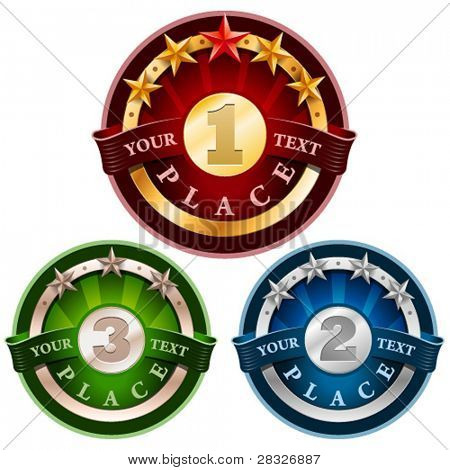 Award labels. Vector Illustration