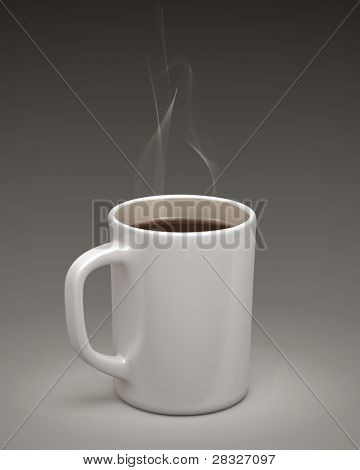 Coffee mug. Vector