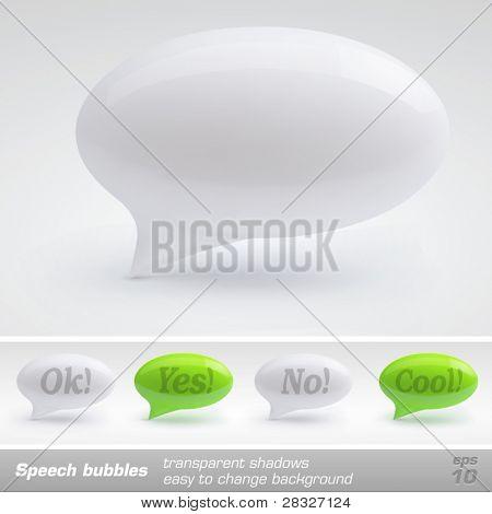 Speech bubbles. Vector