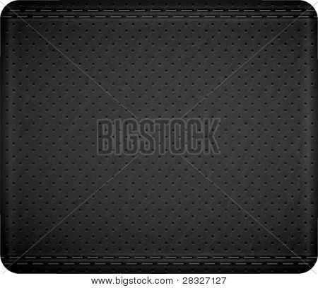 Stitch leather texture. Vector